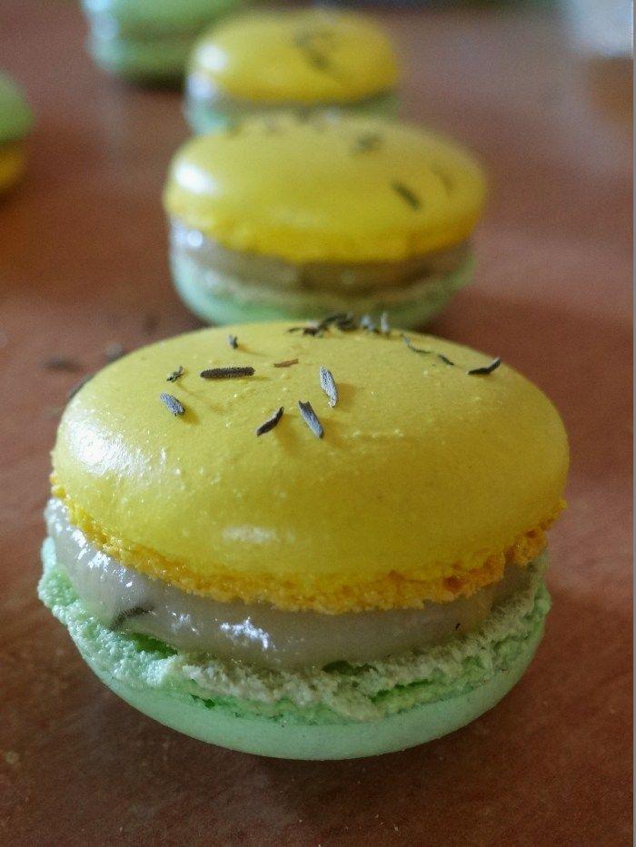 Macarons citron et thym
