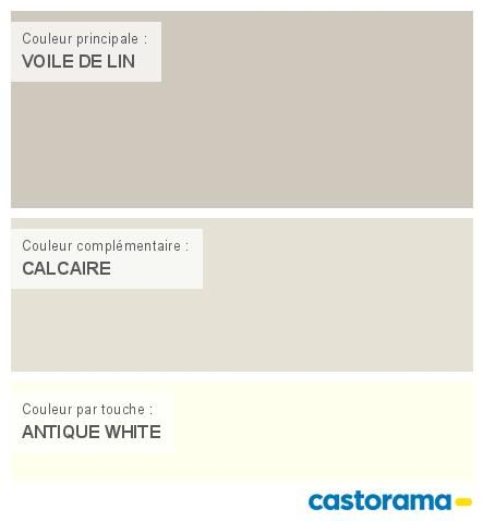 Castorama Nuancier Peinture - Mon harmonie Peinture  VOILE DE LIN satin de COLOURS Respirea