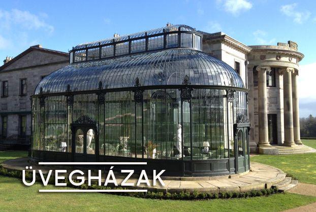 viktoriánus üvegházak