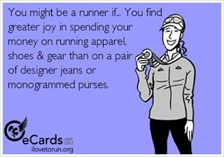 This is so me! My favorite things to buy -- running clothes & running shoes!