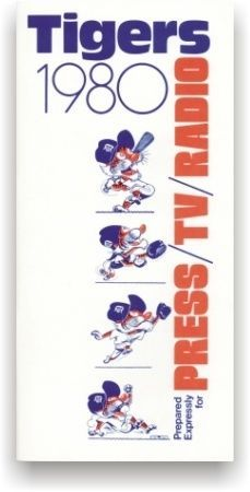 1980 Detroit Tigers Information Amp Media Guide | eBay