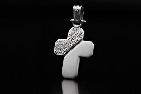 Handmade Cross 925 Sterling Silver with Zircon by ZografosCrosses, €30.00