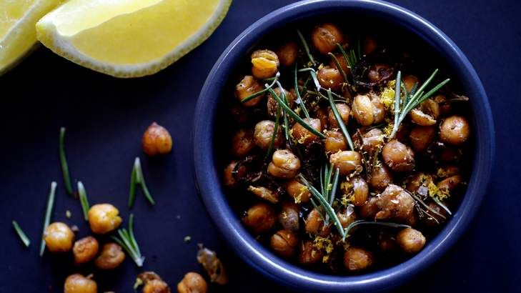 These chickpeas are the new crisp and crunchy snack of choice, leaving olives and nuts in the shade. They are either pan-fried, deep-fried or oven-roasted, and flavoured with Moroccan, Indian or Italian spices.