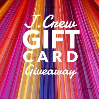 Enter to win a $200.00 gift card to J. Crew. Open worldwide is a J. Crew gift card, and if you have a young one, you can use it at Crew Cuts.