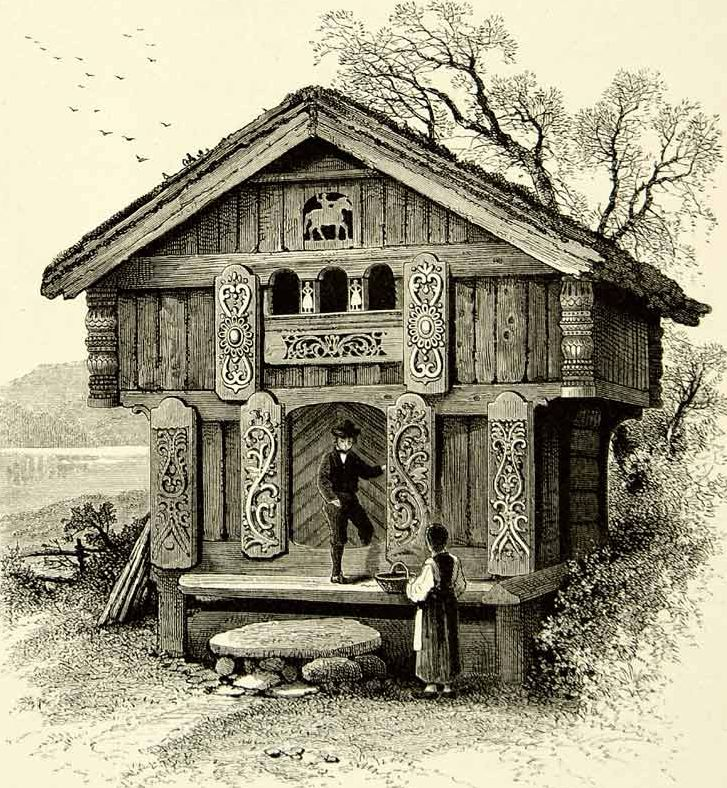 Traditional Norwegian House (1878)... Those shutters are phenomenal!