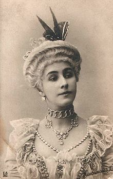 """Mathilde Kschessinskaya, mistress of Nicholas II,  Sergei Mikhailovich and his cousin Andrei Vladimirovich. In 1902, she gave birth to a son, Vladimir (known as """"Vova""""; 30 June 1902 - 23 April 1974); he was later given the title Prince Romanovsky-Krasinsky, but said that he never knew for sure who his father was. Matilda is pictured costumed for the title role in Petipa's La Camargo. St. Petersburg, circa 1902."""