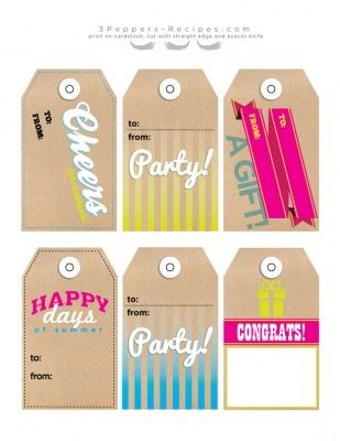 203 best gift tags images on pinterest free printables summer party gift tags free download free gift summer negle Gallery