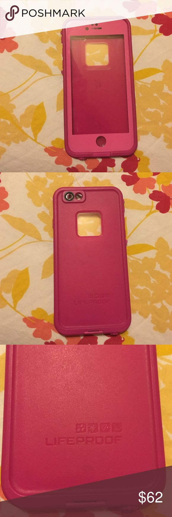 AUTHENTIC life proof case IPhone 6 Authentic life proof iPhone 6 case. Hot pink. Was used for approximately one month before I upgraded to the 6s & was no longer able to use the case. The case ONLY fits the iPhone 6. Not the 6s. Make me an offer!! LifeProof Accessories Phone Cases