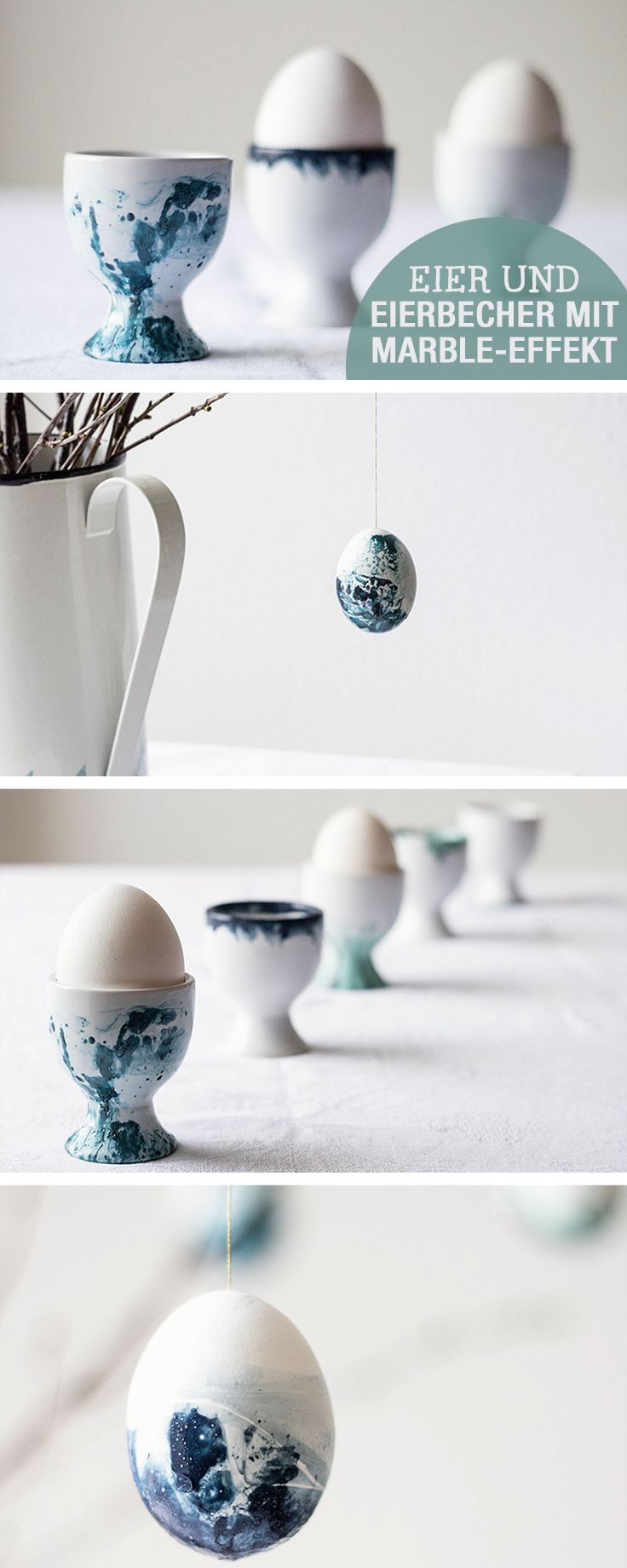 DIY- Anleitung für Eierbecher im Marmoreffekt, Marmor selbermachen / diy tutorial: egg holder with false marble effect via DaWanda.com