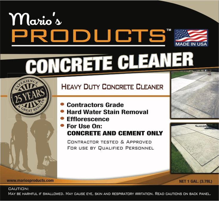 1000 Ideas About Concrete Cleaner On Pinterest
