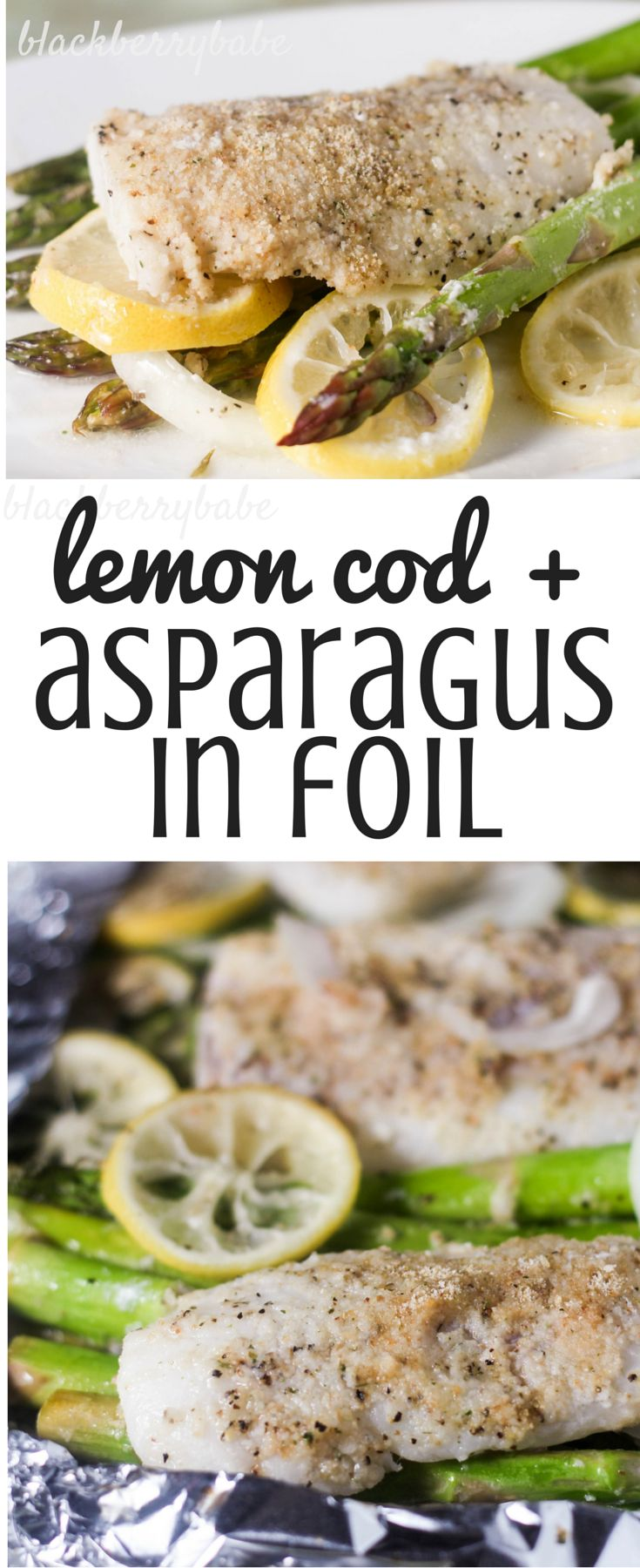 Lemon Cod with Asparagus in Foil - Easy and very healthy foil dinner #NourishingEveryday #CollectiveBias #ad