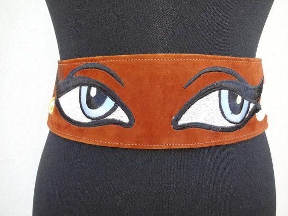 Splendid authentic Vintage I watch you  belt  di Leschosesdemanu