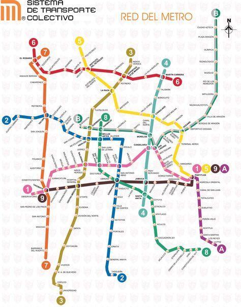 Mapa del metro del DF