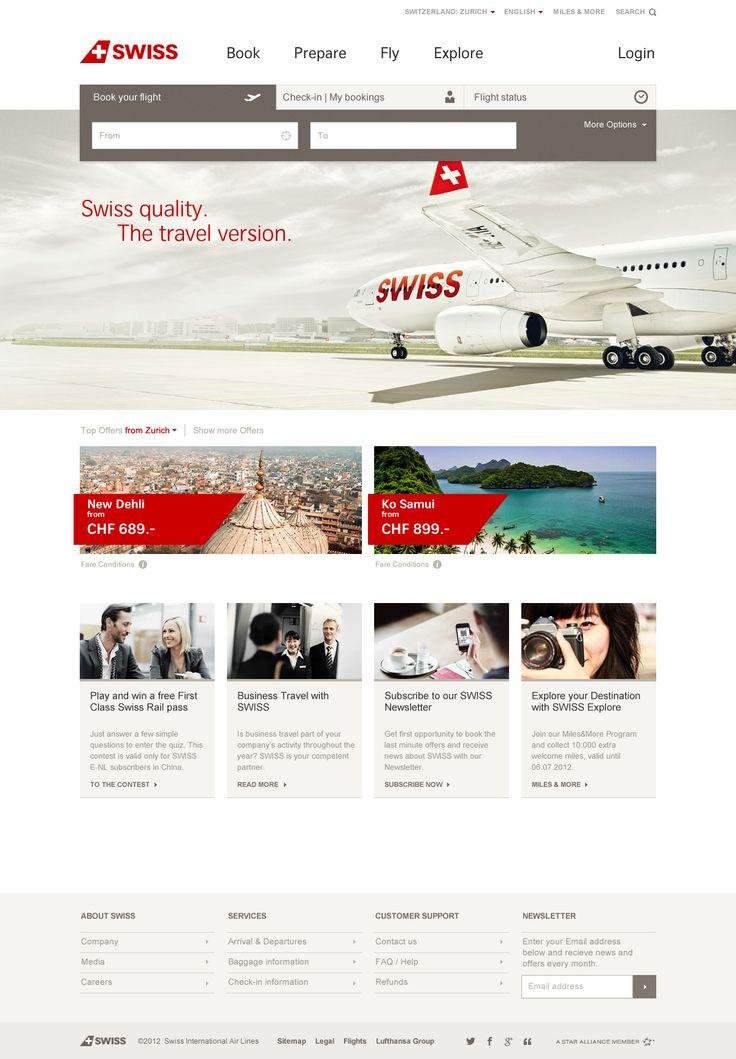 Design for the new swiss.com Website