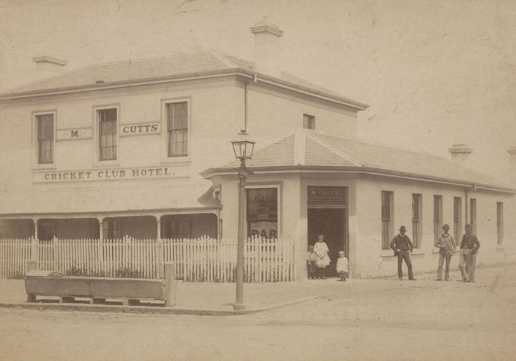 Cricket club hotel, Mt Alexander Rd, Flemington Melbourne, circa 1890. The building still stands today as a Vietnamese community center. The  building itself dates to the 1860s.