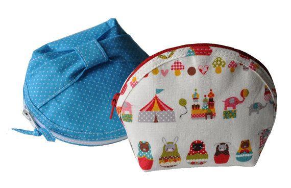 Blush Bunny's Round Zipper Pouch - PDF Sewing Pattern