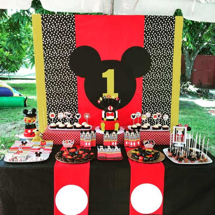 Incredible Mickey Mouse birthday party! See more party ideas at CatchMyParty.com!