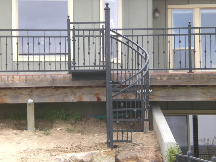 Best Small Outdoor Spiral Staircase With Knuckles Fabricated 640 x 480