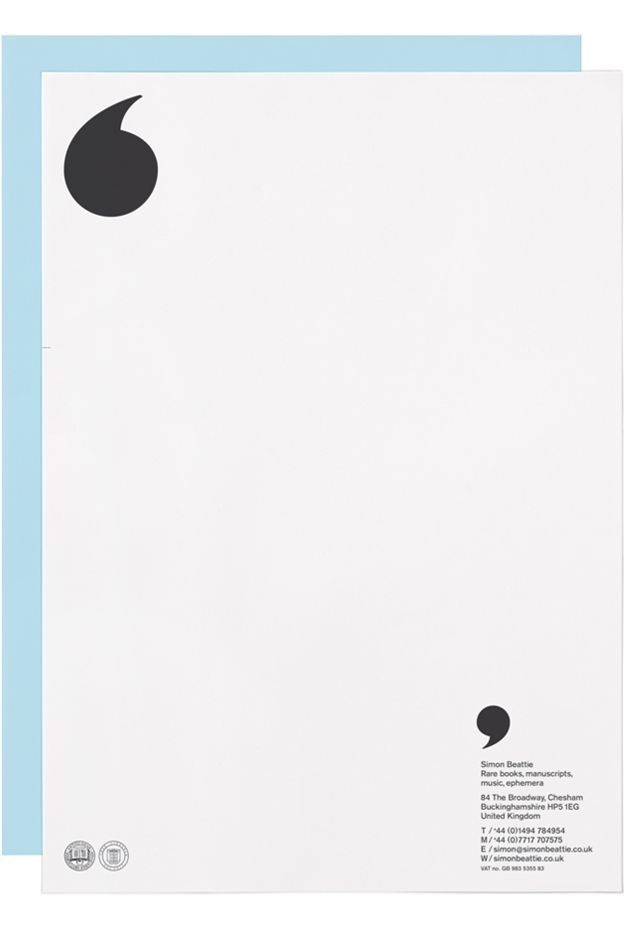 ' letterhead. Stationery design. Love it. (Clever Business Card Brand Identity)