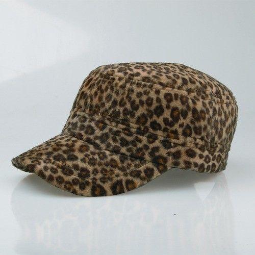Leopard Print Hats Winter Caps Adjustable Hat Mens Womens Military Cap (Light) #J2R #CadetMilitary