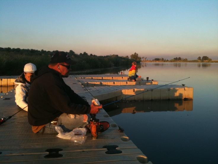 Fishing of the docks of gem lake