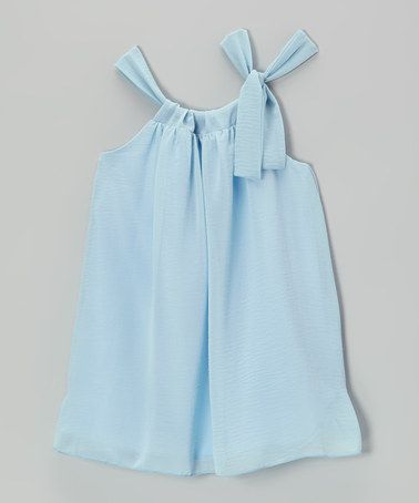 This Light Blue Sydney Dress - Toddler & Girls by Blueberry Twirl is perfect! #zulilyfinds