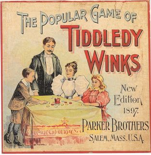 Tiddledy Winks, 1897 version, Parker Brothers, Salem, Mass., USA