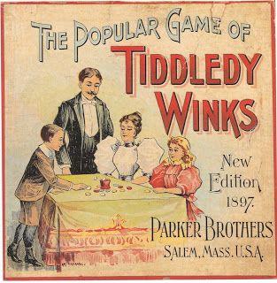 Tiddledy Winks, 1897 version, Parker Brothers, Salem, Mass., USA