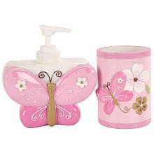 Little Boutique Soap Dispenser And Tumbler Set   Pink Butterfly. Pink Bathroom  AccessoriesPink ...