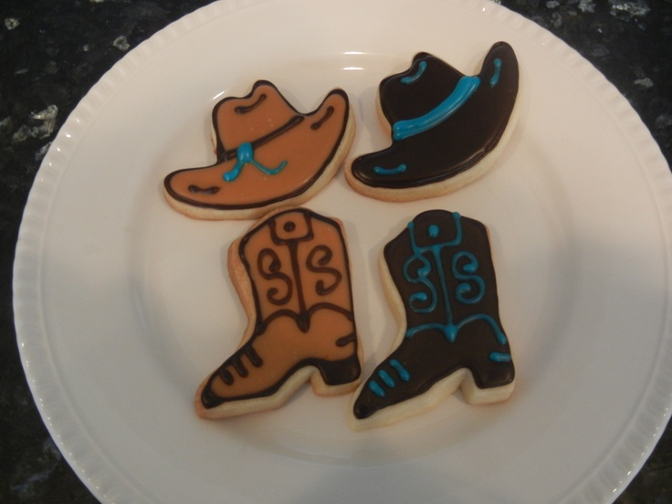 Cowboy Boots and Hats, by Sugar Mama Cookies