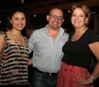 Nuestra gerente de ventas en latino america- Kimberly Silva con Mario Grandilli y Sandraeli Salcedo en Panama Moda Britanica!