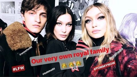 Gigi, Bella, and Anwar Hadid Just Had the Cutest Sibling Fashion Week Moment at the Tommy Hilfiger Show Angel Store Online    See more at https://www.angelstore.online/gigi-bella-and-anwar-hadid-just-had-the-cutest-sibling-fashion-week-moment-at-the-tommy-hilfiger-show/