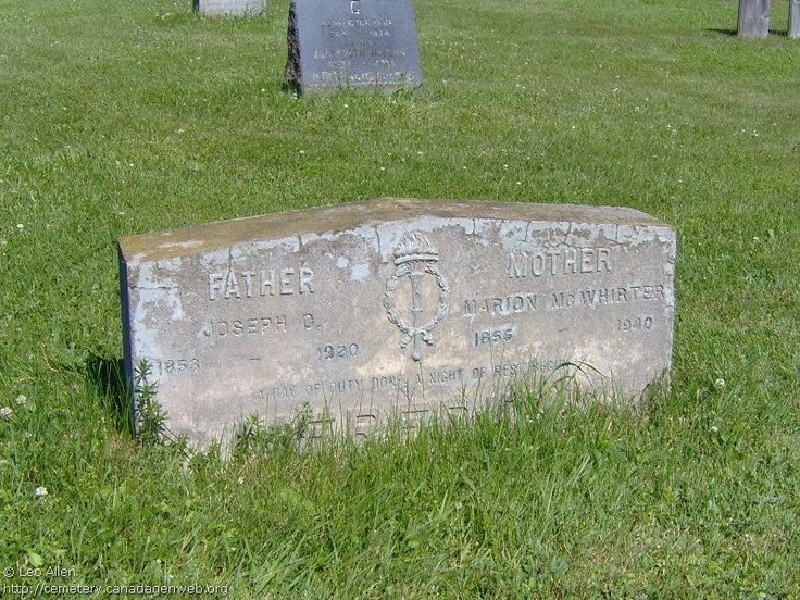 QC: St Andrew's United Church Cemetery (Marion McWHIRTER), CanadaGenWeb's Cemetery Project