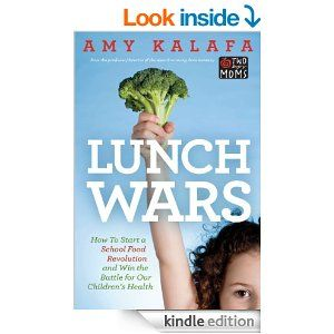 """In Lunch Wars, Kalafa explains all the complicated issues surrounding school food; how to work with your school's """"Wellness Policy""""; the basics of self- operated vs. outsourced cafeterias; how to get funding for a school garden, and much more. Lunch Wars also features the inspiring stories of parents around the country who have fought for better school food and have won, as well as details Amy's quest to spark a revolution in her own school district 