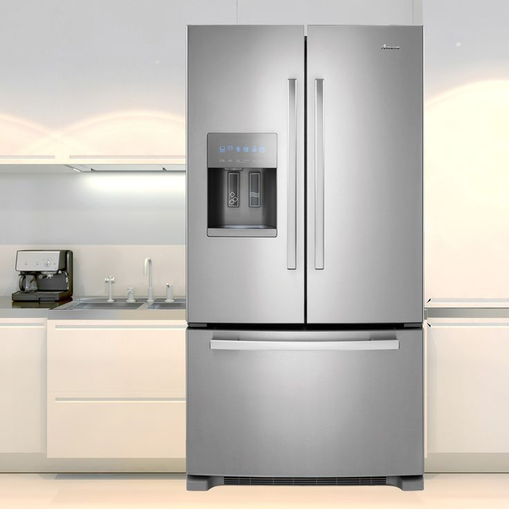 It's over $300 off standard price and has all of the new technology you'd expect in a premium Refrigerator. This Amana French Door Refrigerator has a large capacity with a full-width pantry and freezer doors for flexible storage. LED Lighting and Stainless Steel finish make this the stylish choice for any Kitchen!  #home #kitchen #appliance #refrigerator #deals #Thursday #sale #homedecor