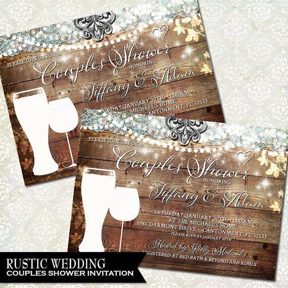 couples shower rustic bridal shower invitation vineyard wedding wine tasting digital printable invitation diy digital file beer glass