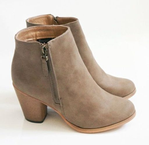 gray ankle boot, Ankle booties for women http://www.justtrendygirls.com/ankle-booties-for-women/