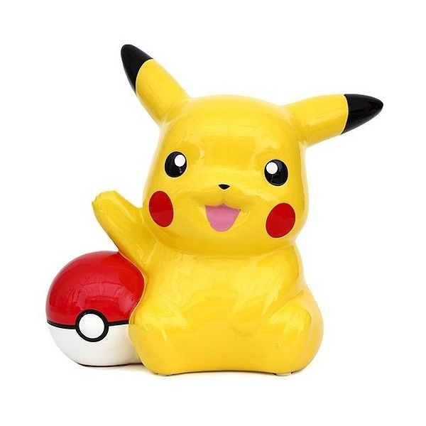 Pokémon Pikachu Coin Bank, Yellow (10) liked on Polyvore