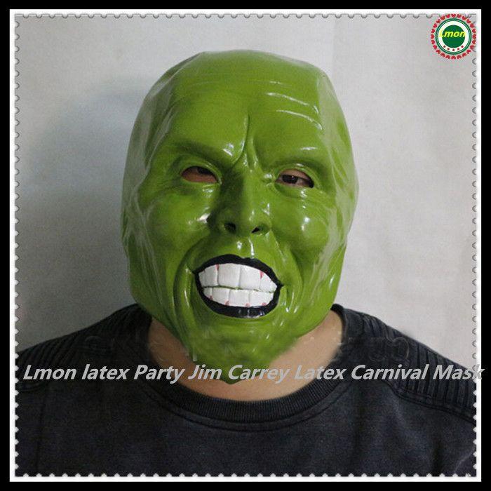 Ну вечеринку косплей маска опора ну вечеринку джим керри латекс карнавал маска для маскарада хэллоуин костюм необычные маска украшения