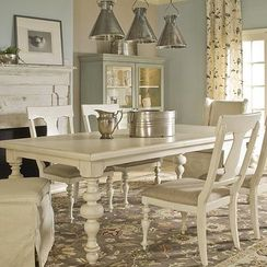 Cream Rectangle Dining Table