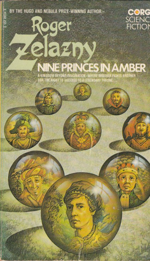 Coolest cover for this book ever.   Nine Princes in Amber - Roger Zelazny -