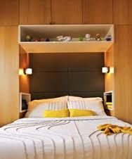 Image result for wardrobe around bed