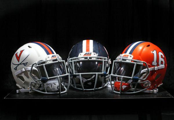 2016 University of Virginia (UVA) Cavaliers football helmets