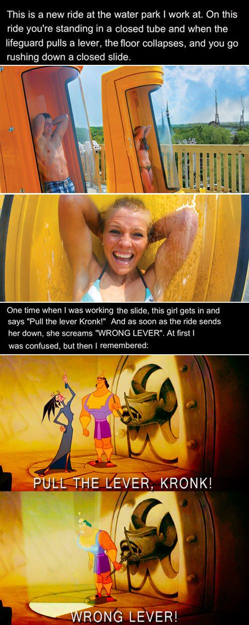 So funny!!!!!! Some of the best stories I have herd have come from those who working at Six Flags!