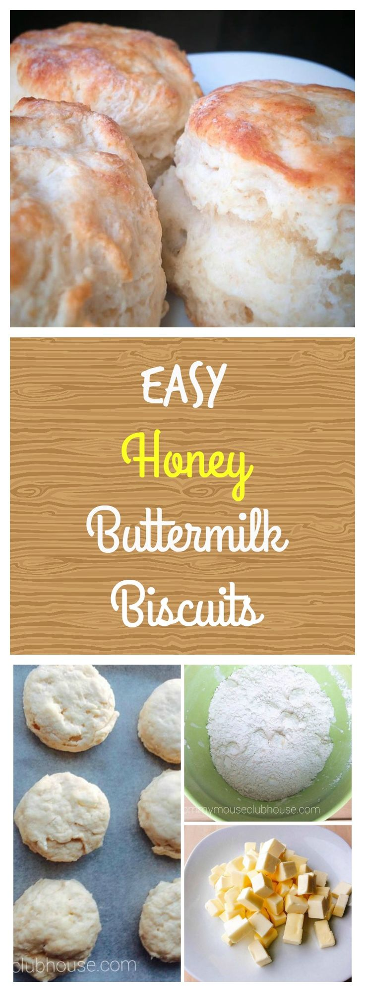 Easy Honey Buttermilk Biscuits  Quick, Easy, Homemade, Biscuits, Breakfast