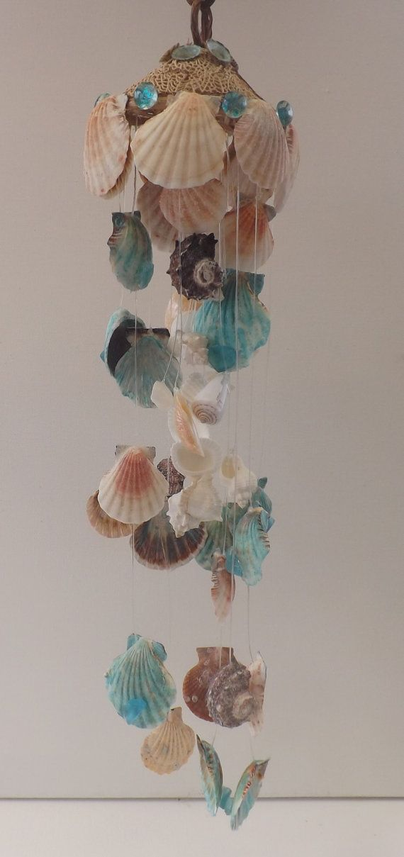 Colors of the Seashore Mobile Wind Chime by TheGreenEyedTurtle, $30.00