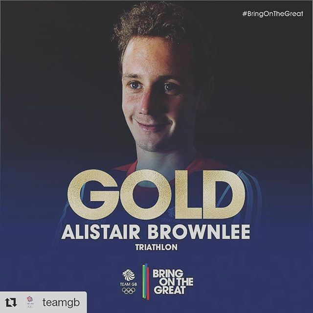 #Repost @teamgb with @repostapp ・・・ #GOLD!!!! Alistair Brownlee, we were never in doubt. Absolutely superb  #BringOnTheGreat #Triathlon#rio2016 #teamgb #olympicgames