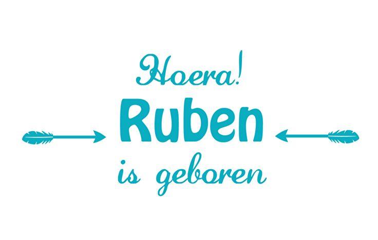 Geboortesticker type Ruben