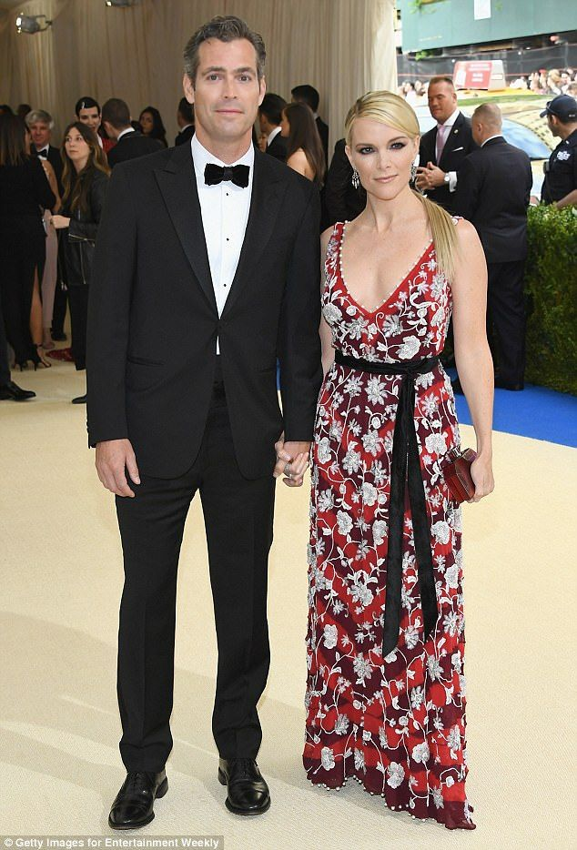Happy couple: The 46-year-old attended the event on the arm of her dapper husband Douglas Brunt, who looked handsome in a classic black tuxedo