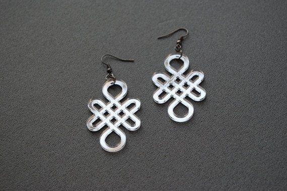 Eternity knot earrings mirror acrylic earrings by elfinadesign